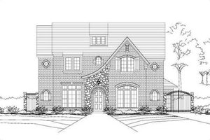 European Exterior - Front Elevation Plan #411-196