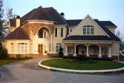 European Style House Plan - 4 Beds 3.5 Baths 3912 Sq/Ft Plan #119-123 Exterior - Front Elevation