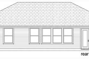 Traditional Style House Plan - 3 Beds 2 Baths 1103 Sq/Ft Plan #84-537 Exterior - Rear Elevation