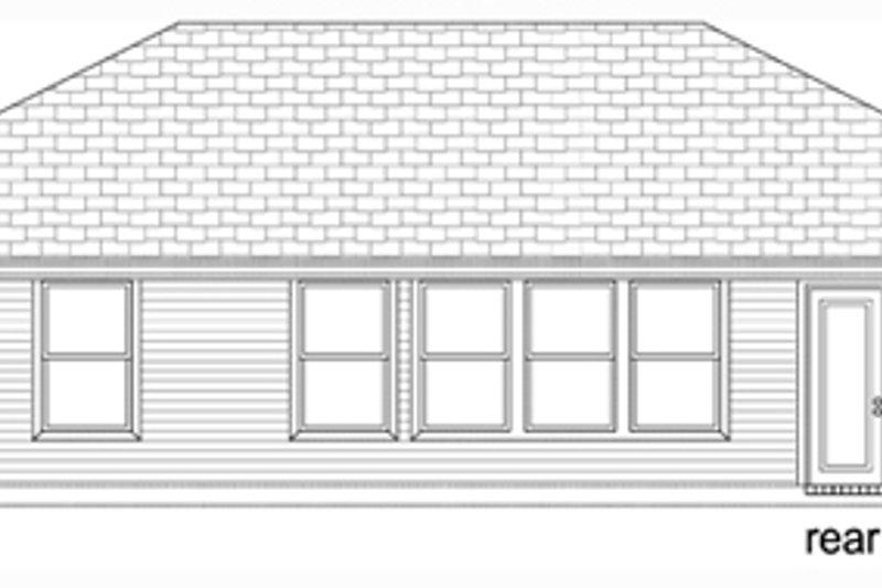 Traditional Exterior - Rear Elevation Plan #84-537 - Houseplans.com