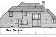 European Style House Plan - 4 Beds 3.5 Baths 2403 Sq/Ft Plan #46-119 Exterior - Rear Elevation