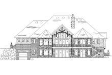 Craftsman Exterior - Rear Elevation Plan #5-334