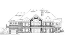 Home Plan - Craftsman Exterior - Rear Elevation Plan #5-334