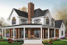 Dream House Plan - Farmhouse Exterior - Front Elevation Plan #23-519