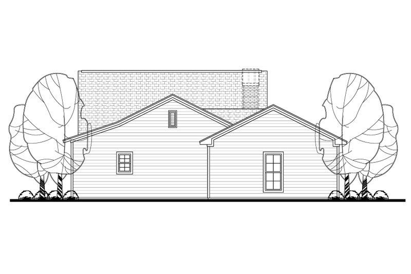 Cottage Exterior - Rear Elevation Plan #430-106 - Houseplans.com