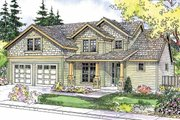 Craftsman Style House Plan - 3 Beds 2.5 Baths 2210 Sq/Ft Plan #124-564 Exterior - Front Elevation