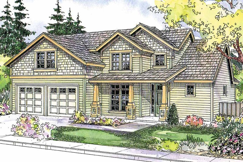 Architectural House Design - Craftsman Exterior - Front Elevation Plan #124-564