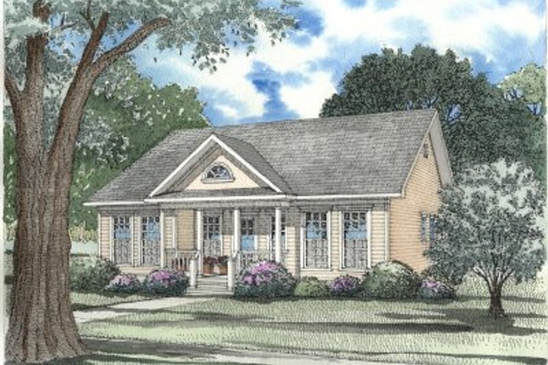 Home Plan - Southern Exterior - Front Elevation Plan #17-1055