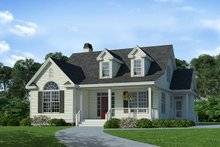 Country Exterior - Front Elevation Plan #929-520