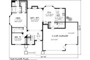 Ranch Style House Plan - 2 Beds 2 Baths 1683 Sq/Ft Plan #70-1112 Floor Plan - Main Floor Plan