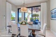 Mediterranean Style House Plan - 3 Beds 3.5 Baths 3700 Sq/Ft Plan #930-511 Interior - Dining Room