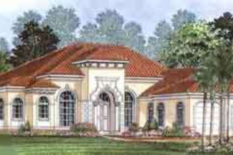 European Style House Plan - 3 Beds 2.5 Baths 2885 Sq/Ft Plan #27-259 Exterior - Front Elevation