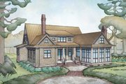 Farmhouse Style House Plan - 4 Beds 4.5 Baths 3292 Sq/Ft Plan #928-10 Exterior - Rear Elevation