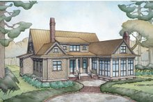 Farmhouse Exterior - Rear Elevation Plan #928-10