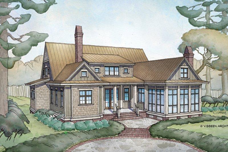 Farmhouse Exterior - Rear Elevation Plan #928-10 - Houseplans.com