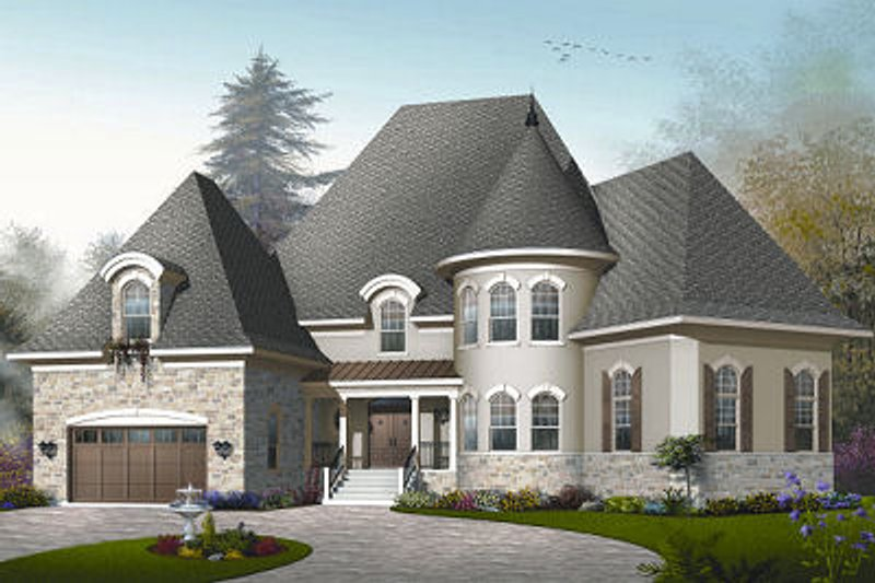 Dream House Plan - European Exterior - Front Elevation Plan #23-843