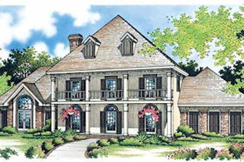 Southern Style House Plan - 4 Beds 2.5 Baths 2605 Sq/Ft Plan #45-151 Exterior - Front Elevation