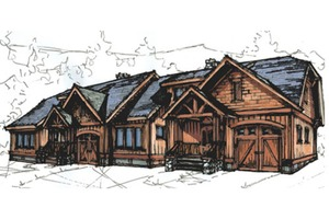 Craftsman Exterior - Front Elevation Plan #921-7
