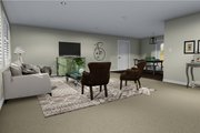 Ranch Style House Plan - 2 Beds 1 Baths 1190 Sq/Ft Plan #1060-3 Interior - Family Room