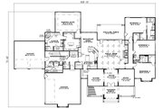 Ranch Style House Plan - 4 Beds 3.5 Baths 3602 Sq/Ft Plan #17-1166 Floor Plan - Main Floor Plan