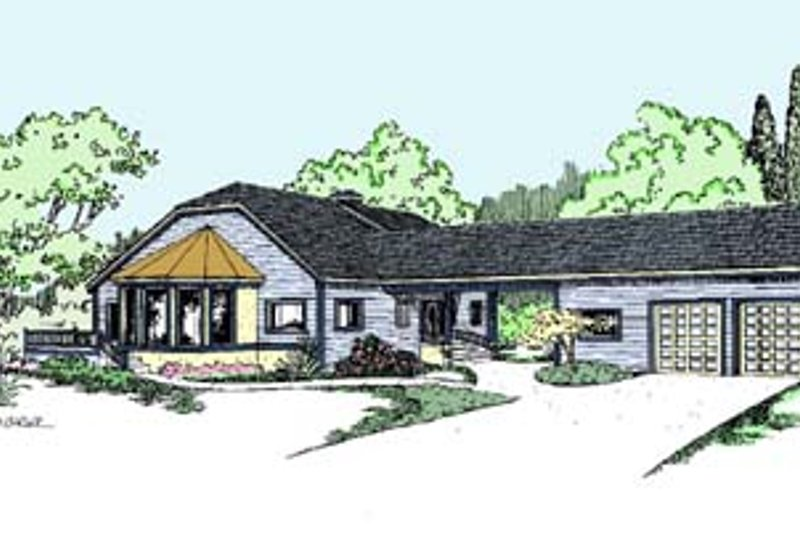 Country Exterior - Front Elevation Plan #60-564 - Houseplans.com