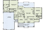 Southern Style House Plan - 3 Beds 2.5 Baths 2328 Sq/Ft Plan #17-2588 Floor Plan - Main Floor