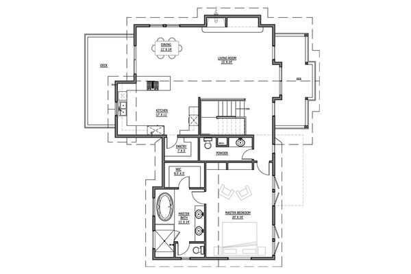 Craftsman Floor Plan - Upper Floor Plan Plan #899-6