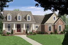 Dream House Plan - Country Exterior - Front Elevation Plan #21-375