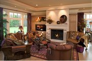 European Style House Plan - 4 Beds 3.5 Baths 4552 Sq/Ft Plan #51-547 Interior - Family Room