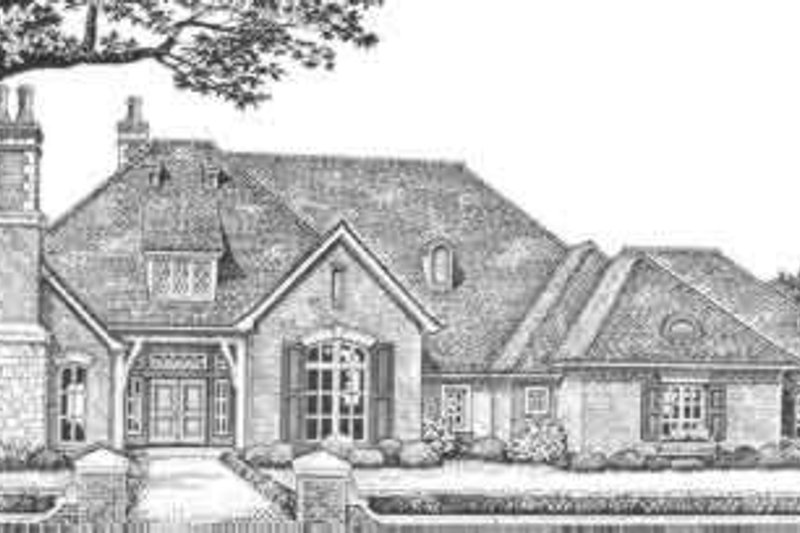 European Exterior - Front Elevation Plan #310-333