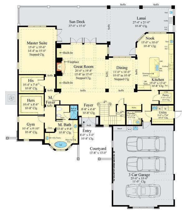 Dream House Plan - European Floor Plan - Main Floor Plan #930-517