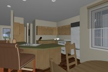 Ranch Interior - Kitchen Plan #126-186