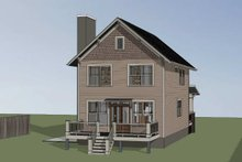 Dream House Plan - Craftsman Exterior - Other Elevation Plan #79-315