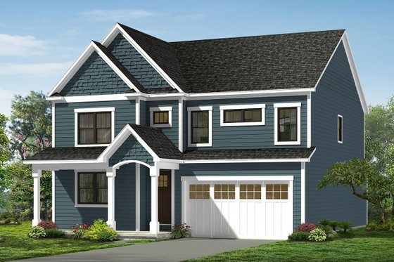 Craftsman Exterior - Front Elevation Plan #1057-14