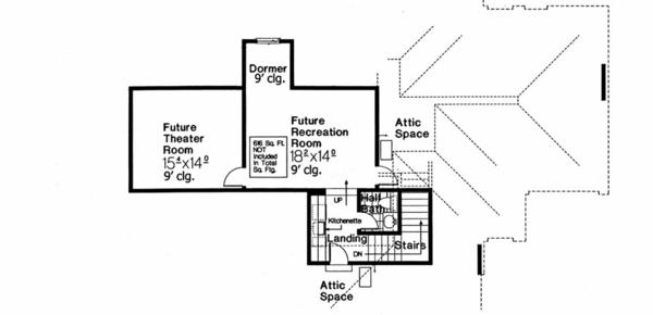 European Floor Plan - Upper Floor Plan #310-986