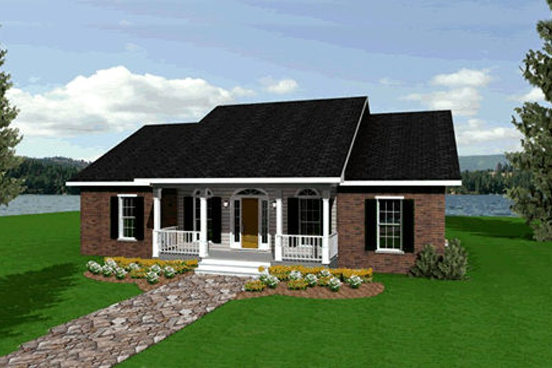 Architectural House Design - Ranch Exterior - Front Elevation Plan #44-104
