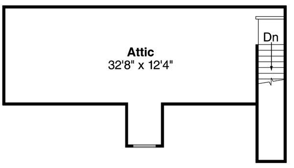 Country Floor Plan - Upper Floor Plan Plan #124-897