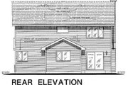 Traditional Style House Plan - 4 Beds 3 Baths 1985 Sq/Ft Plan #18-286 Exterior - Rear Elevation