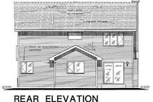 Home Plan - Traditional Exterior - Rear Elevation Plan #18-286