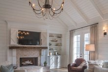 Architectural House Design - Traditional Interior - Family Room Plan #437-83