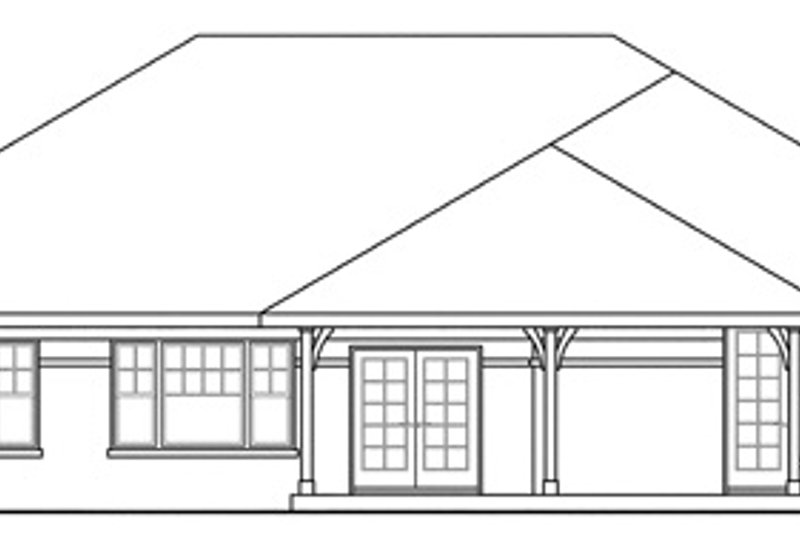 Traditional Exterior - Rear Elevation Plan #124-885 - Houseplans.com