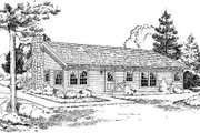 Cabin Style House Plan - 3 Beds 2 Baths 1146 Sq/Ft Plan #312-525 Exterior - Rear Elevation