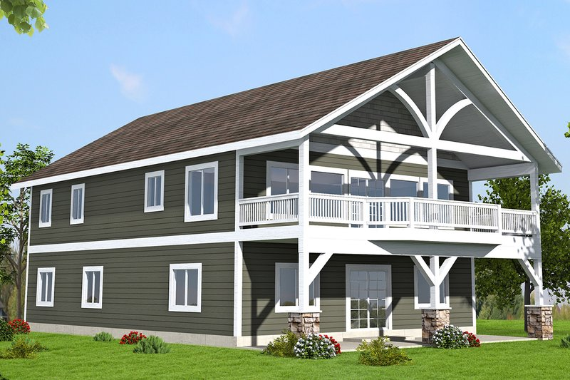 Country Exterior - Front Elevation Plan #117-881