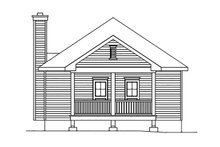 Cottage Exterior - Rear Elevation Plan #22-568