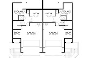 Modern Style House Plan - 3 Beds 2.5 Baths 2861 Sq/Ft Plan #48-261 Floor Plan - Lower Floor Plan