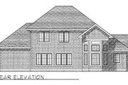 Traditional Style House Plan - 4 Beds 2.5 Baths 2525 Sq/Ft Plan #70-409 Exterior - Rear Elevation