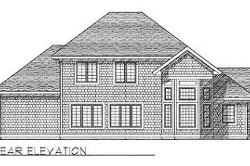 Traditional Exterior - Rear Elevation Plan #70-409 - Houseplans.com