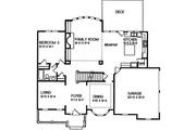 European Style House Plan - 5 Beds 4 Baths 3038 Sq/Ft Plan #129-160 Floor Plan - Main Floor Plan