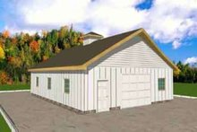 Home Plan - Traditional Exterior - Front Elevation Plan #117-308