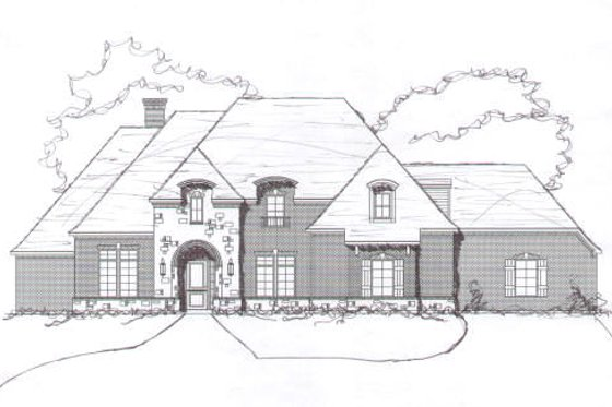 European Exterior - Front Elevation Plan #141-190